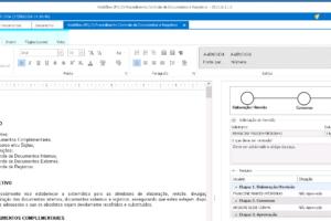 Elaboração do documento - Ferramenta para criação dos documentos e acompanhamento da aprovação.